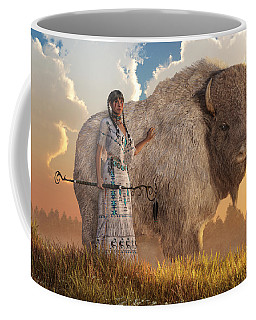 White Buffalo Calf Woman Coffee Mug