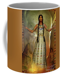 Coffee Mug featuring the digital art White Buffalo Calf Woman by Shadowlea Is
