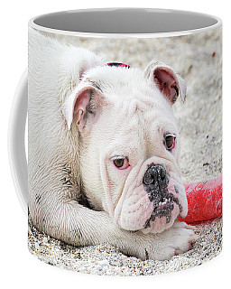 White Bull Dog Coffee Mug