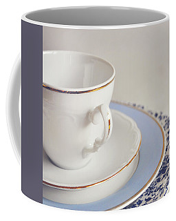 Coffee Mug featuring the photograph White China Cup, Saucer And Plates by Lyn Randle