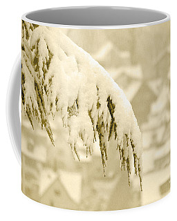 Coffee Mug featuring the photograph White Christmas - Winter In Switzerland by Susanne Van Hulst