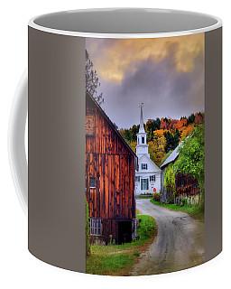 White Church In Autumn - Waits River Vermont Coffee Mug by Joann Vitali