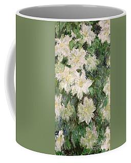 White Clematis Coffee Mug