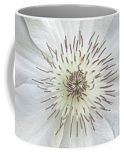 White Clematis Flower Garden 50121b Coffee Mug