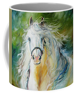 White Cloud The Andalusian Stallion Coffee Mug