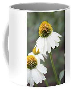 White Coneflower Coffee Mug
