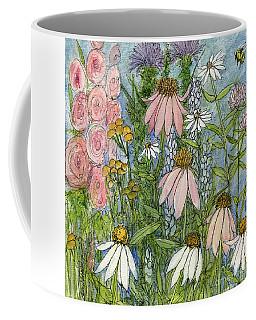 White Coneflowers In Garden Coffee Mug