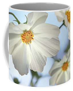 White Cosmos-2 Coffee Mug by Nina Bradica