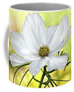 White Cosmos Floral Coffee Mug
