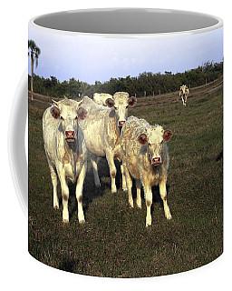 White Cows Coffee Mug by Sally Weigand