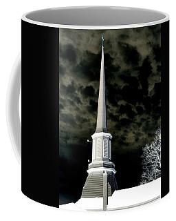 White Cross Dark Skies Coffee Mug