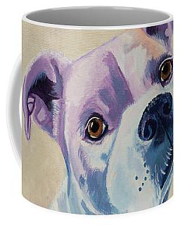 White Dog Portrait Coffee Mug