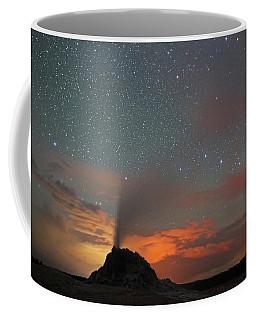 White Dome Geyser At Night Coffee Mug