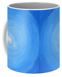 White Dot In Sea Of Blue Coffee Mug