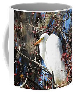 White Egret Bird Coffee Mug
