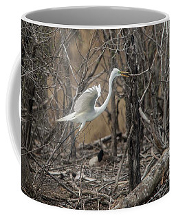 Coffee Mug featuring the photograph White Egret by David Bearden