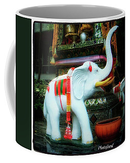 Coffee Mug featuring the photograph White Elephant. Meaning A Big Expensive by Mr Photojimsf