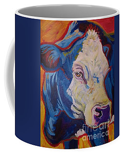Coffee Mug featuring the painting White Face Cow by Jenn Cunningham