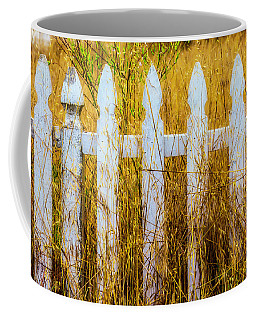 White Fence In The Weeds Coffee Mug