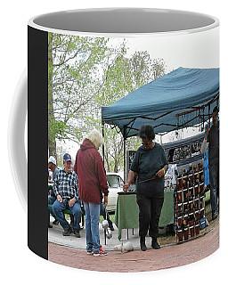Coffee Mug featuring the photograph White Ferret Car Show by Jack Pumphrey