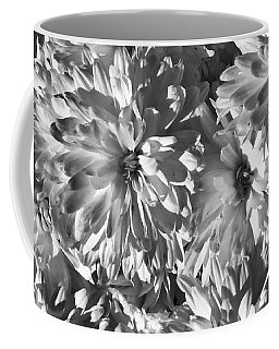 White Flower Burst Coffee Mug
