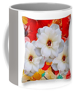 Coffee Mug featuring the digital art White Flower Throw Pillow by Gayle Price Thomas