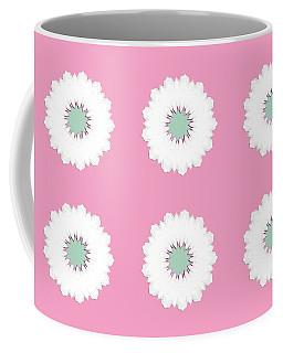 Coffee Mug featuring the digital art White Flowers by Elizabeth Lock