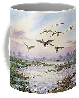 White-fronted Geese Alighting Coffee Mug