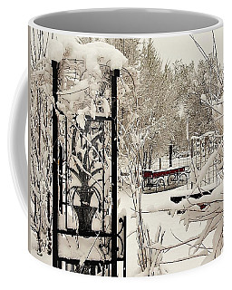 White Garden Coffee Mug