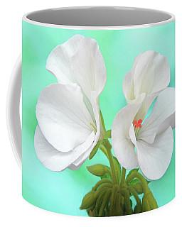 White Geranium Coffee Mug