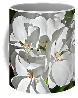 White Geraniums Coffee Mug