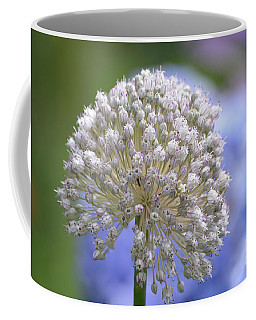 White Globe Allium Flower In Bloom Coffee Mug by DejaVu Designs