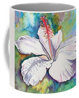 White Hibiscus Waimeae Coffee Mug