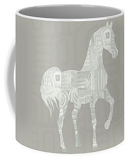 White Horse 1- Art By Linda Woods Coffee Mug
