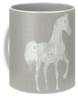 White Horse 1- Art By Linda Woods Coffee Mug