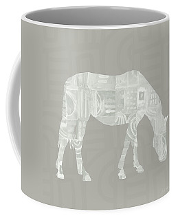 White Horse 2- Art By Linda Woods Coffee Mug