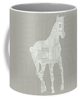 White Horse 3- Art By Linda Woods Coffee Mug