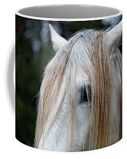 White Horse Eye And Mane Coffee Mug
