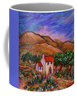 Coffee Mug featuring the painting White House In An Oak Grove by Xueling Zou
