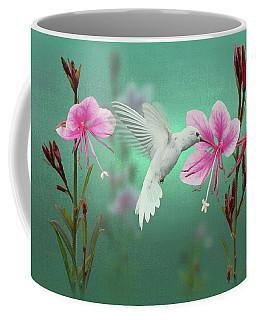 White Hummingbird And Pink Guara Coffee Mug