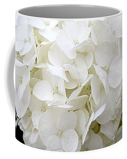 White Hydrangea Coffee Mug by Kume Bryant