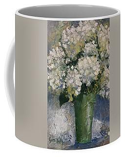 White Hydrangeas Coffee Mug