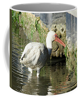 Coffee Mug featuring the photograph White Ibis Headed Home by George Randy Bass