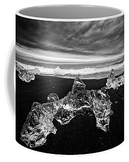 White Ice Black Beach - Fascinating Iceland Coffee Mug