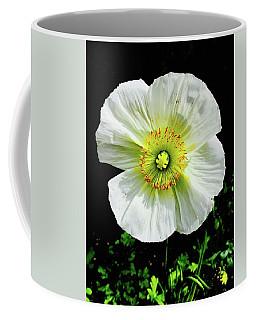 White Iceland Poppy Coffee Mug