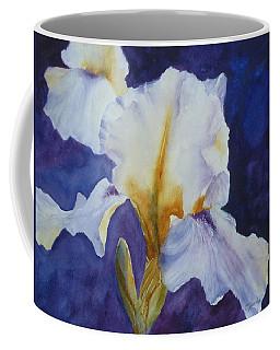 White Iris Coffee Mug