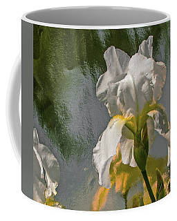 White Iris Coffee Mug