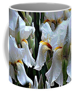 White Iris Garden Coffee Mug