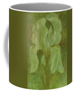 White Iris Painterly Texture Coffee Mug