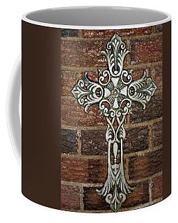 White Iron Cross 1 Coffee Mug